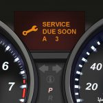1 – Understanding Honda's Maintenance Minder System_ Service Codes – Honda instrument display with service due soon _ service code on